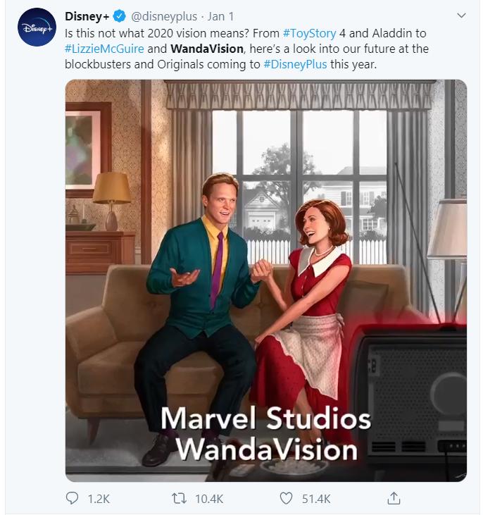 Screenshot of the WandaVision
